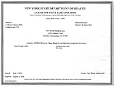 New York State Department Certificate