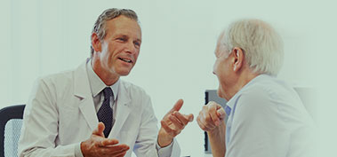 Doctor and patient discussing options